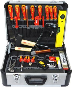FAMEX 478-10 Elektriker Werkzeugsatz mit Einstecktaschen 31-teilig