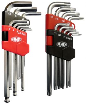 FAMEX 10790 Key Wrench Set, 18-pcs