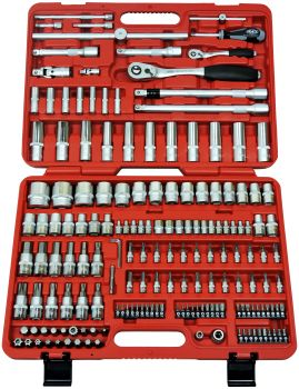 FAMEX 525-SD-16 Mechanics' Socket Set, 174-pcs