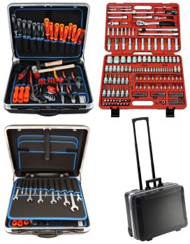 FAMEX 604-09 Universal Tool Kit in Trolley ABS 36L with 174-pcs. Socket-Set