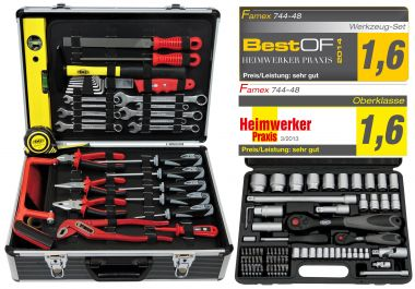 FAMEX 744-48 Universal Tool Kit with Socket Set