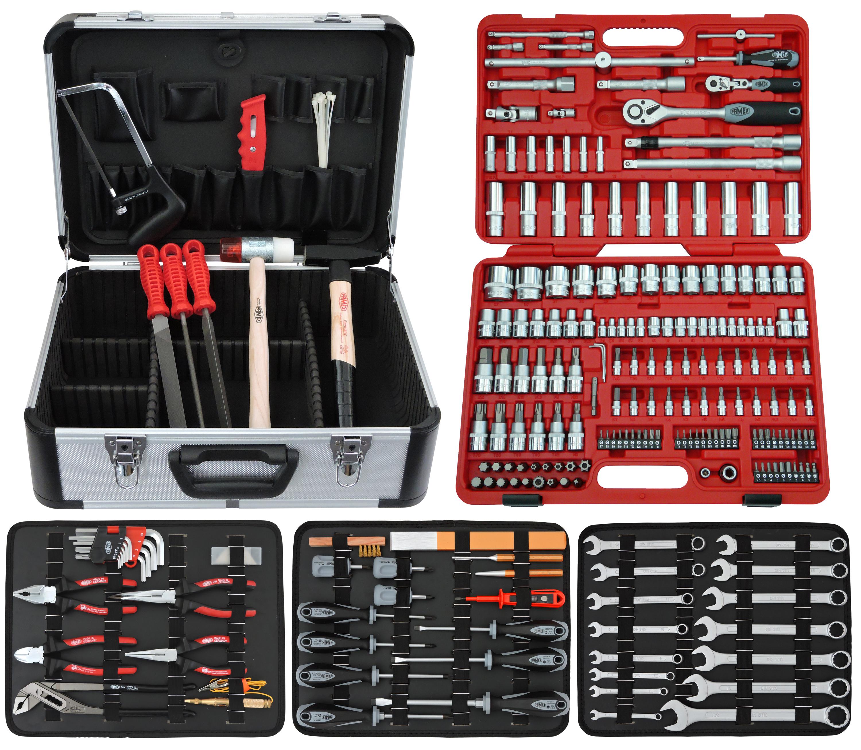 13 tlg Werkzeugkoffer mit Werkzeug Set Hammer Schraubendreher Werkzeugkasten