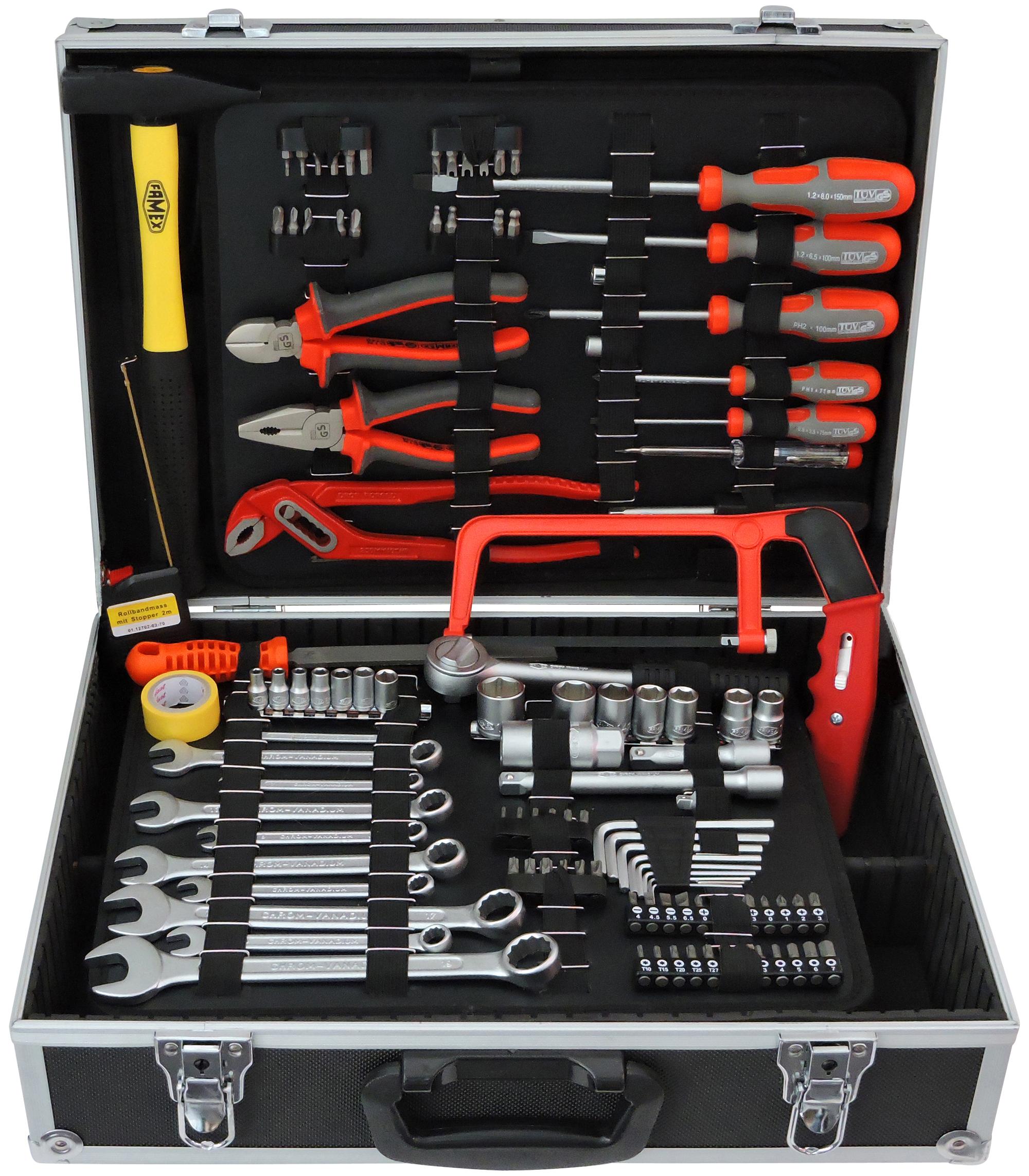 FAMEX 758-65 Universal Tool Kit, 115-/130-pcs